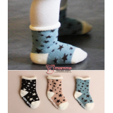 Baby Socks - Korean Terry Star (3 colors)