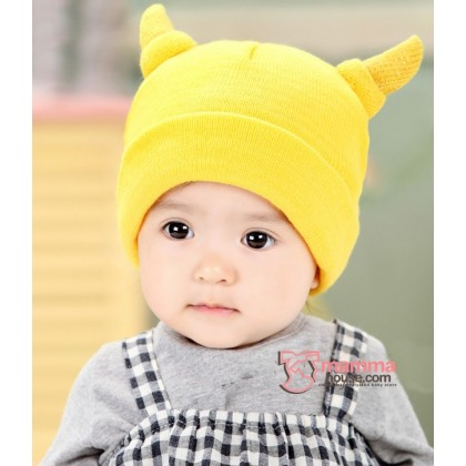 Baby Hat - Little Horns Yellow