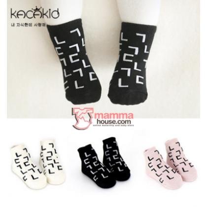 Baby Socks - Korean Blocks (3 colors)