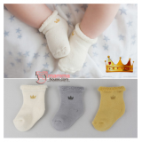 Baby Socks - Korean Crown (3 colors)