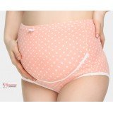 Maternity Panties - Ive Lace Orange Pink
