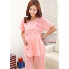 Mamma Pajamas - Short Love Pink (defect,no exchange, no refund)