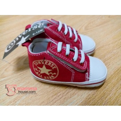 Baby Shoes - Converse White Red