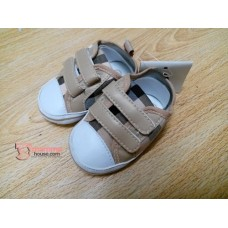 Baby Shoes - Berry Grid Brown