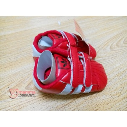 Baby Shoes - Addi Shine Red