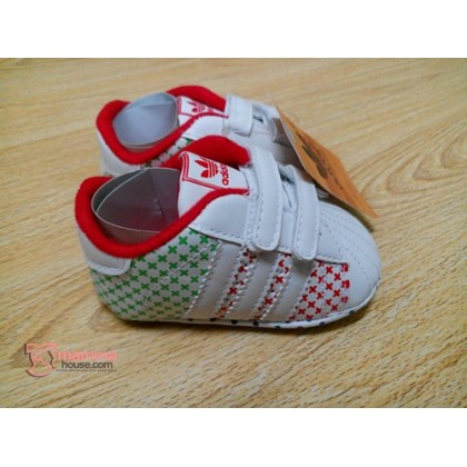 Baby Shoes - Addi Green Red