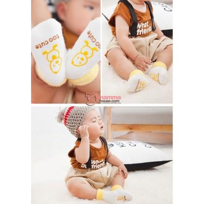 Baby Socks - Korean Terry Yellow Duck