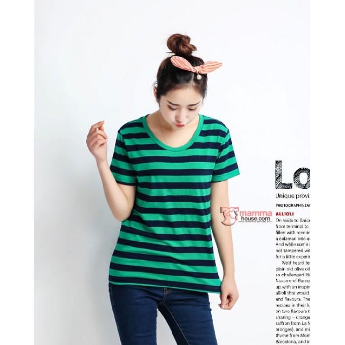 3433e28e7c3ff Maternity Tops - Cool Stripe Green