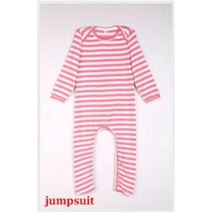 Nursing Set - Stripe Light Pink (plus baby romper, jumpsuit)