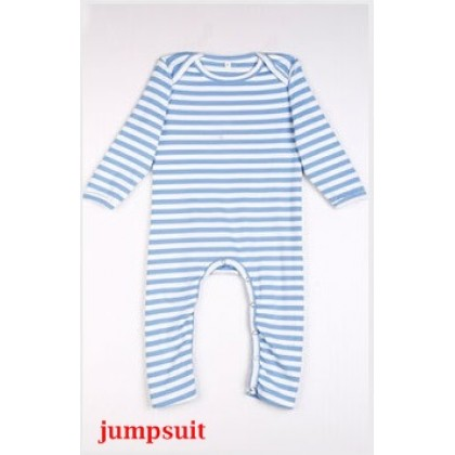 Nursing Set - Stripe Light Blue (plus baby romper, jumpsuit)