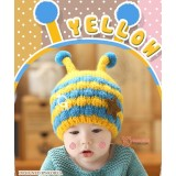 Baby Hat - Cute Knitted Bee Blue