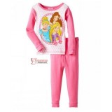 Baby Pajamas - Long Princess Pink White