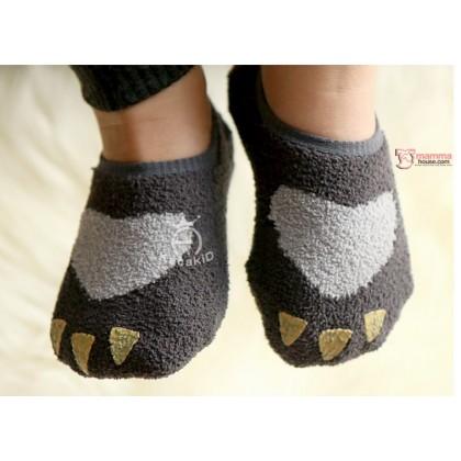 Baby Socks - Korean Velvet Paw (3 colors)