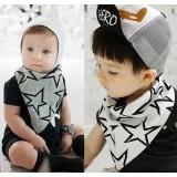 Baby Bib - Korean Cotton 2 way Star (2 colors)