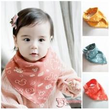 Baby Bib - Korean Cotton 2 way Mickey (3 colors)