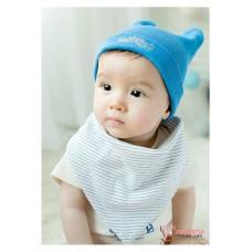Baby Bib - Korean Cotton 2 way Little Bear (3 colors)