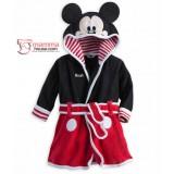Baby Bathrobe - Velvet Mickey