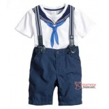 Baby Clothes - 2 pcs Sailor Blue White