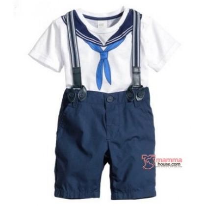 Baby Clothes - 2 pcs Sailor Blue White