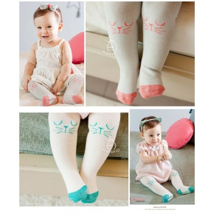 Baby Hose - Korean Knitted Cat White or Grey