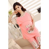 Mamma Pajamas - Rabbit Pink SHORT Sleeves