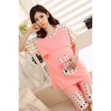 Mamma Pajamas - Rabbit Pink SHORT Sleeves