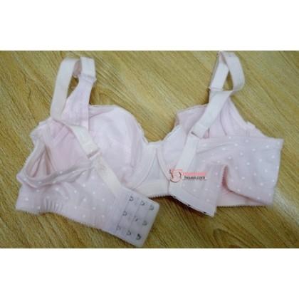 T Nursing Bra - Lace Polka Pink