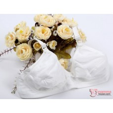 T Nursing Bra - Cotton White