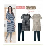 Nursing Dress - JP Stripe Mid Drawstring (2 colors - dress only)