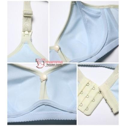 T Nursing Bra - Hook Button Sweet Blue
