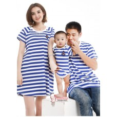 Nursing Set - 3 pcs set Simple Stripe Blue (Dad, Mom, BB)