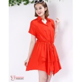 Nursing Dress - Chiffon Wave Red or Black