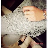 Capri Legging - Long Lace Dress Grey