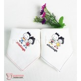 Korean Baby Handkerchief - Allo (Red or Black)
