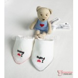 Korean Baby Handkerchief - Love Mama or Papa