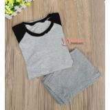 Mamma Pajamas - Long Grey Black