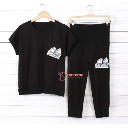 Maternity Set - 2 pcs Snoopy Black or White