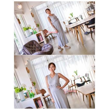 Nursing Dress - Long Grace Grey (only DRESS)