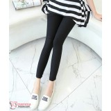 Maternity Long Pants - Legging Fit Black