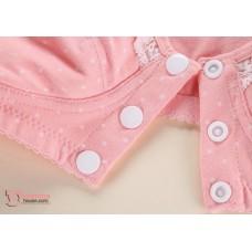 X Nursing Bra - 3 button Lace Beige