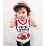 Baby Singlet - Car Red