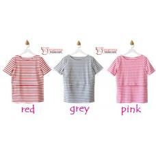 Nursing Tops - KR Simple Stripe Red