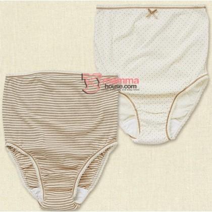 Maternity Panties - JP Panties Polka Brown or Brown Stripe