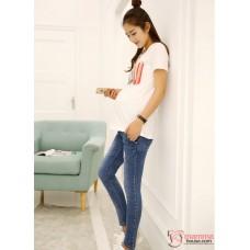 Maternity Jeans - Slim Cut Mid Blue