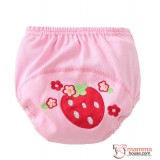 Baby Japanese Training Pants - Cotton Strawberry
