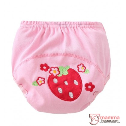 Baby Japanese Training Pants - Cotton Strawberry