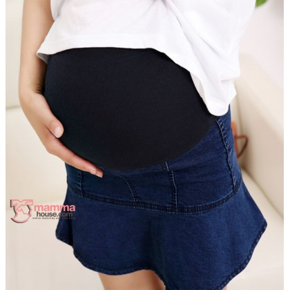 Maternity Skirt - Lotus Jeans Dark Blue