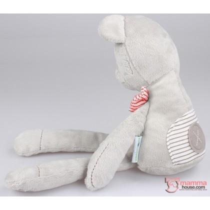 Baby Soft Toy - Bunny Bowtie Grey