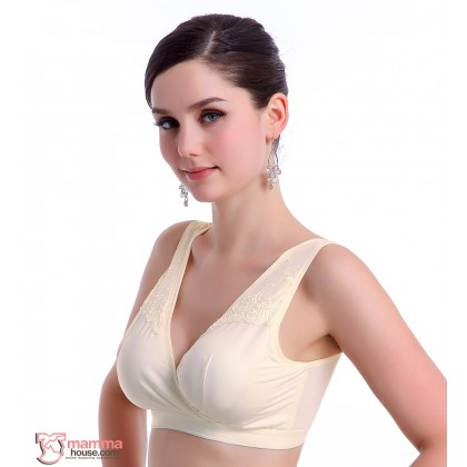 X Nursing Bra - Smooth Silk Beige