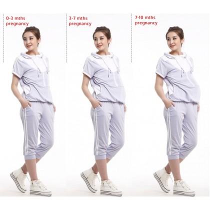 Nursing Set - 2pcs Smooth Zip Purple or Pink